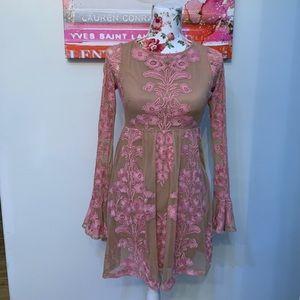 For love & lemons pink Temecula dress NWOT